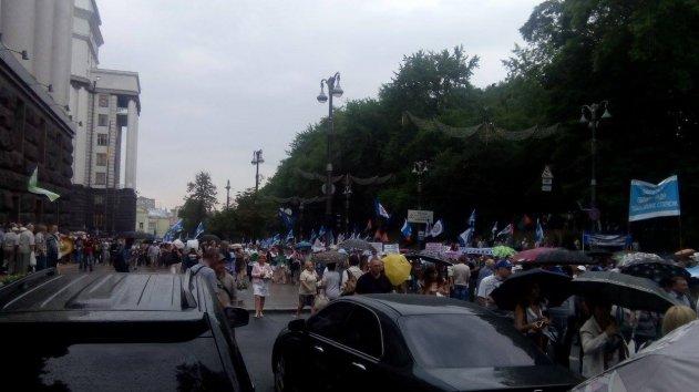 В Києві проходить мітинг проти шокових тарифів