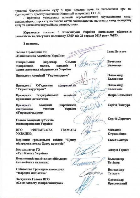 Щодо скасування постанови КМУ від  21.08.2019 року №823